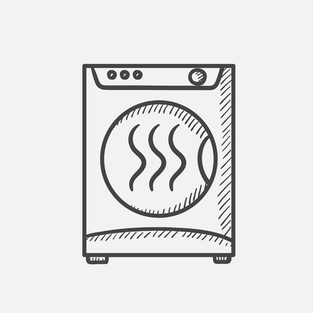 Vector hand drawn Dryer outline doodle icon. Dryer sketch illustration for print, web, mobile and infographics isolated on white background.
