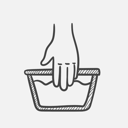 Vector hand drawn handwash outline doodle icon. Handwash sketch illustration for print, web, mobile and infographics isolated on white background.