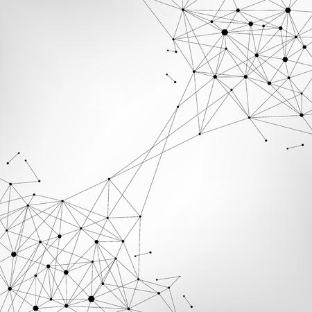 Blockchain technology futuristic abstract vector background with blockchain peer to peer network. Ilustracja