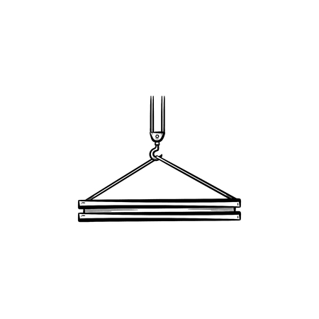 Crane hook hand drawn outline doodle icon 向量圖像