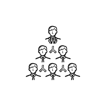 Leader hand drawn outline doodle vector icon. Community leader sketch illustration for print, web, mobile and infographics isolated on white background.