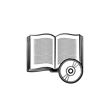 Audiobook hand drawn outline doodle icon. Ilustração