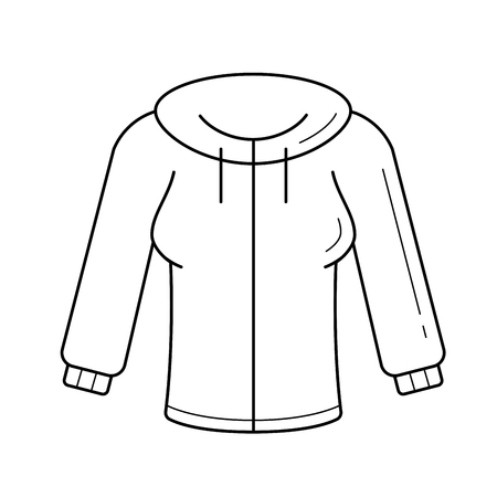 Jersey vector line icon isolated on white background. Female jersey sweater line icon for infographic, website or app. Stock Illustratie