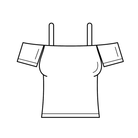 A cute blouse line icon isolated on white background.