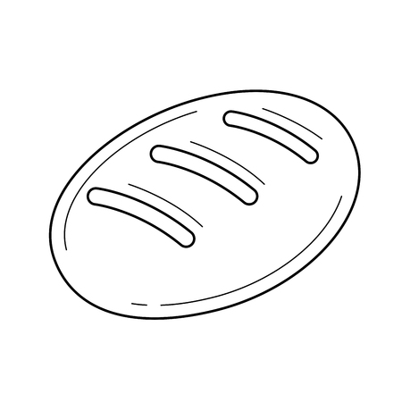 Loaf in linear icon isolated on white background for infographic, website or app.  イラスト・ベクター素材