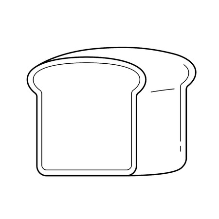 Half loaf of bread in line icon vector isolated on white background for infographic, website or app.