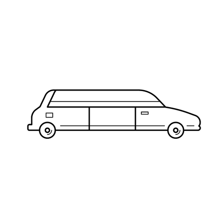 Limousine vector line icon isolated on white background. Wedding car - limousine line icon for infographic, website or app.