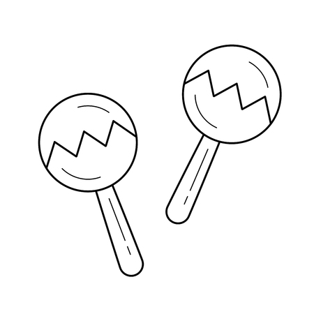 Maracas vector line icon isolated on white background. Maracas line icon for infographic, website or app. Icon designed on a grid system.