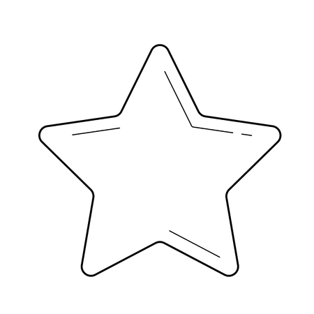 Music star vector line icon isolated on white background. Music star line icon for infographic, website or app. Icon designed on a grid system.