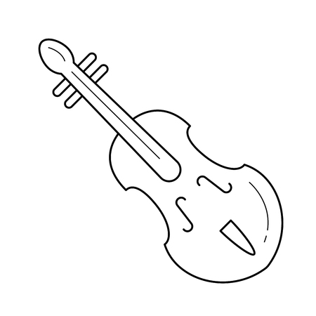 Violin vector line icon isolated on white background. Violin line icon for infographic, website or app. Icon designed on a grid system.
