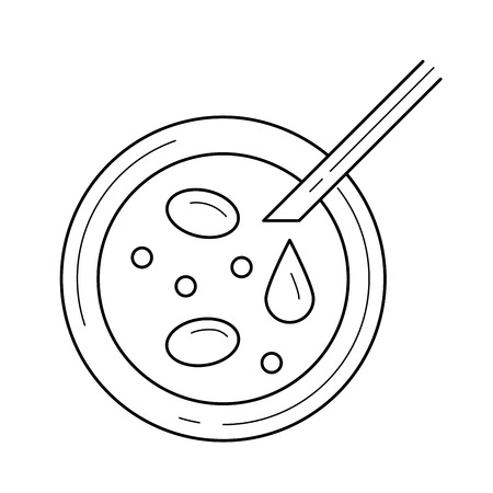 Petri dish vector line icon isolated on white background. Petri dish line icon for infographic, website or app. Icon designed on a grid system.