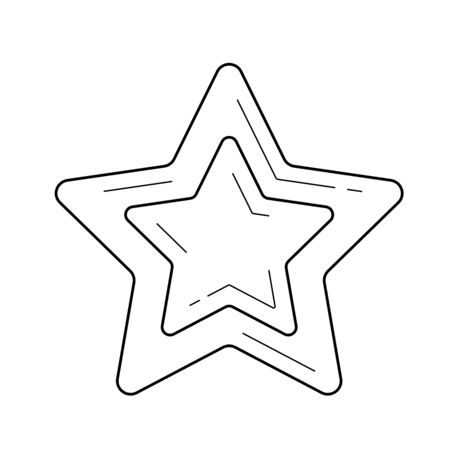 Star favourite vector line icon isolated on white background. Star favourite line icon for infographic, website or app. Scalable icon designed on a grid system. Illustration