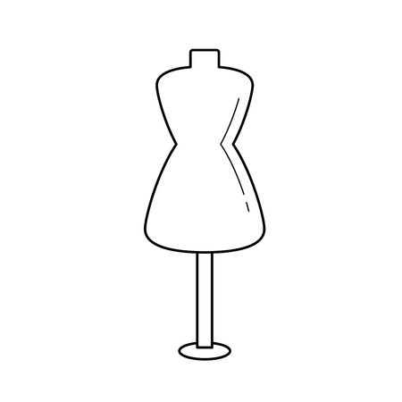 Sewing mannequin vector line icon isolated on white background. Mannequin line icon for infographic, website or app. Foto de archivo - 98183172