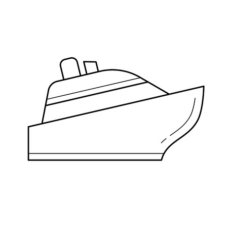 Cruise ship line icon isolated on white background for infographic, website or app. Icon designed on a grid system.