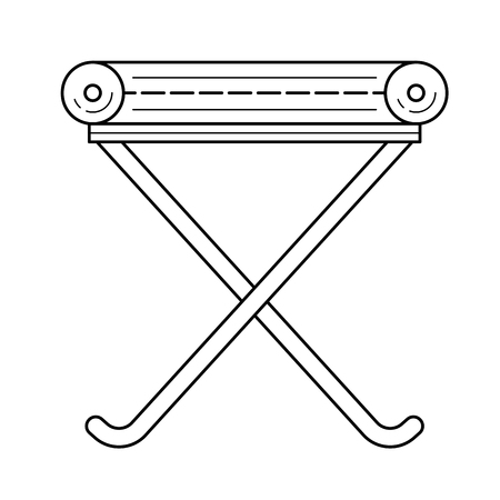 Camp-chair vector line icon isolated on white background. Camp-chair line icon for infographic, website or app. Icon designed on a grid system. Illusztráció
