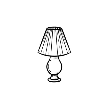 Table lamp hand drawn outline doodle icon. A piece of interior - table lamp vector sketch illustration for print, web, mobile and infographics isolated on white background. Illustration
