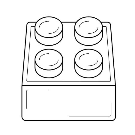 Module vector line icon isolated on a white background. Archivio Fotografico - 98762556