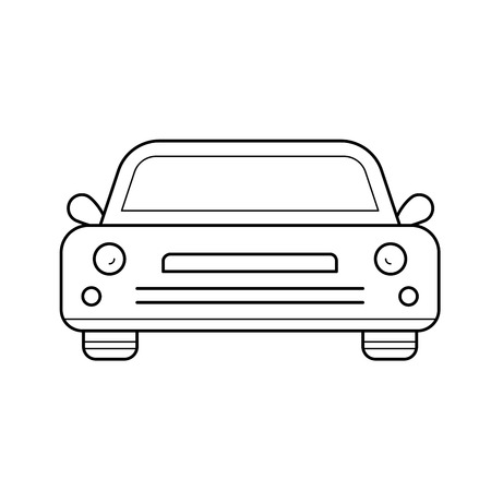 Sedan car vector line icon isolated on white background. Sedan car line icon for infographic, website or app. Icon designed on a grid system.
