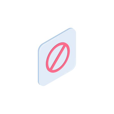 Stop vector isometric icon isolated on white background. Restriction isometric icon for infographic, website or app. Stock Photo