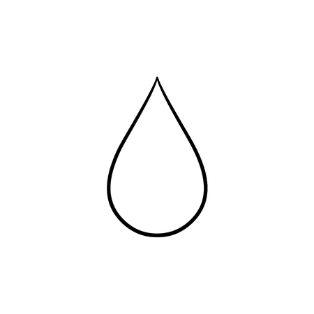 Water drop hand drawn outline doodle icon. Clear fresh water drop vector sketch illustration for print, web, mobile and infographics isolated on white background.