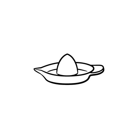 Lemon squeezer hand drawn outline doodle icon. Equipment for making citrus juice - lemon squeezer vector sketch illustration for print, web, mobile and infographics isolated on white background. Illustration