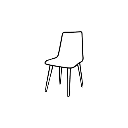 Barstool hand drawn outline doodle icon. High chair vector sketch illustration for print, web, mobile and infographics isolated on white background.