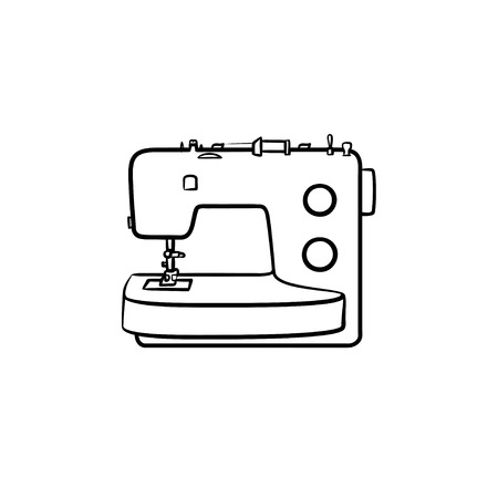 Sewing-machine hand drawn outline doodle icon. Vector sketch illustration of sewing-machine for print, web, mobile and info-graphics.