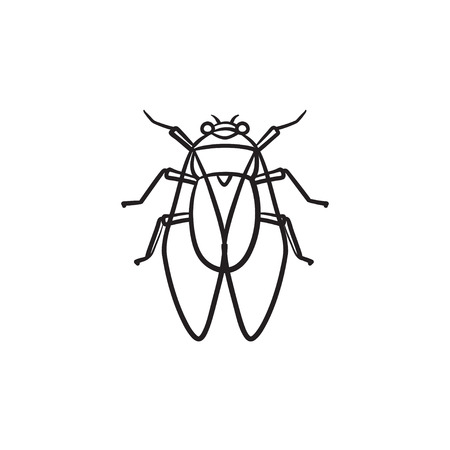 Fly hand drawn outline doodle icon. Insect fly vector sketch illustration for print, web, mobile and info-graphics.