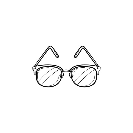 Eyeglasses hand drawn outline doodle icon. Dioptrical glasses as medical ophthalmology concept vector sketch illustration for print, web, mobile and infographics isolated on white background. Illustration