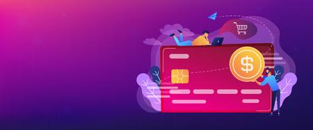 Credit card header banner. 向量圖像