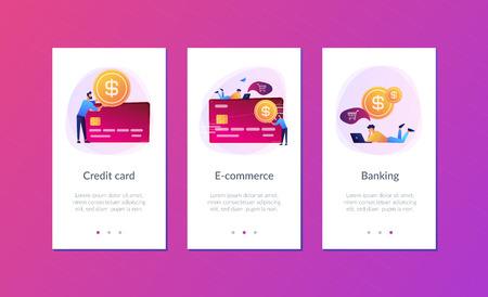 Credit card app interface template.