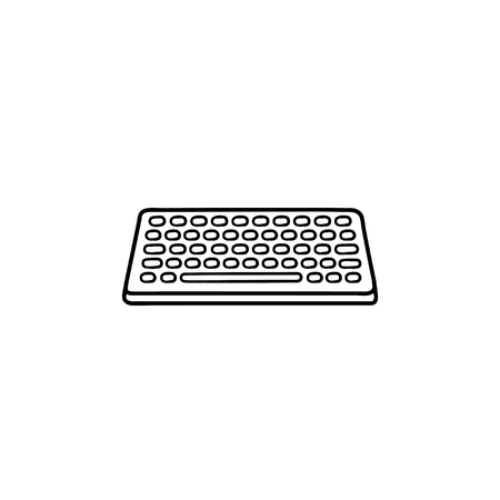 Keyboard hand drawn outline doodle icon. Input device and technology, keypad and equipment concept. Vector sketch illustration for print, web, mobile and infographics on white background.