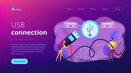 Website vibrant violet landing web page template.