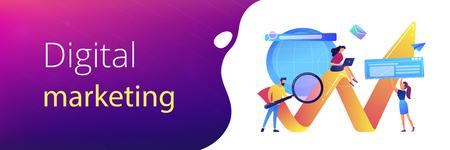 Digital marketing concept banner header.