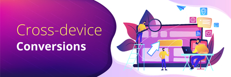 Cross-device tracking concept banner header.