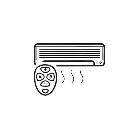 Smart air conditioner hand drawn outline doodle icon. Foto de archivo - 117309091