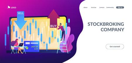 Stock market concept landing page.