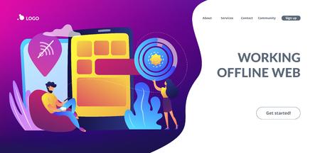 Progressive web app concept landing page.