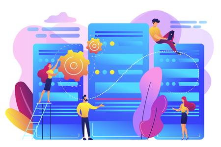 Data center concept vector illustration. Çizim