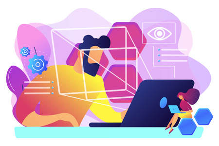 Eye tracking technology concept vector illustration.