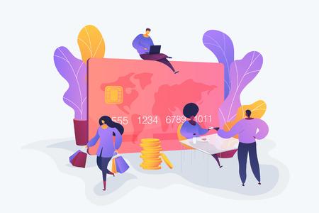 Credit card vector creative concept illustration.