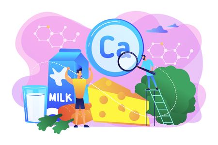 Uses of Calcium concept vector illustration.