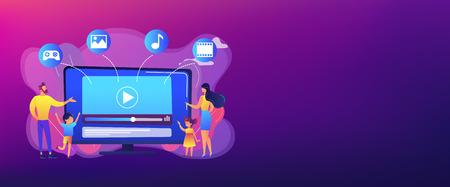 SmartTV content concept banner header.