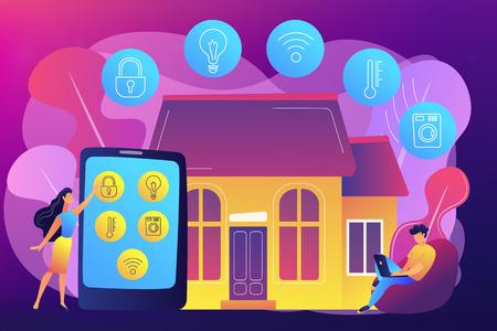 Smart home concept vector illustration.