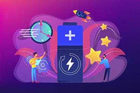 Fast charging technology concept vector illustration. 向量圖像