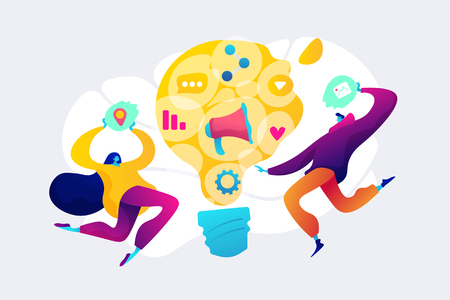 Marketing concept vector illustration.