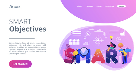 SMART Objectives concept landing page.