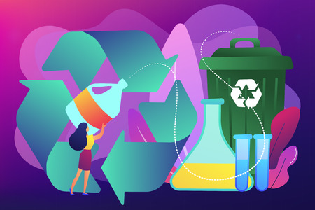 Chemical recycling concept vector illustration.
