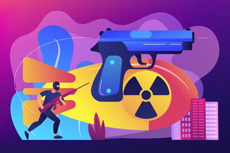 International terrorism concept vector illustration. Vecteurs