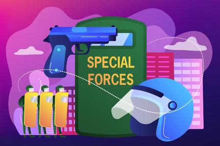 Special military forces concept vector illustration. Çizim